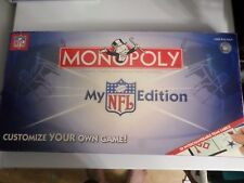 Monopoly My NFL Edition Customize 32 Football Board Game New