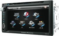 "POWER ACOUSTIK DOUBLE 2 DIN CAR STEREO DVD/CD/MP3 PLAYER 6.5"" TOUCH MONITOR USB"