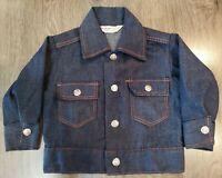 Vintage Health Tex Boys Jeans Jacket Sz 2T Western Snap Front Selvedge Denim 70s