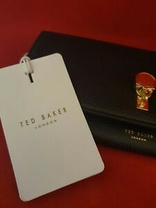 Ted Baker - Sylivi Padlock Flap Matinee Purse - BLACK - BRAND NEW WITH TAGS
