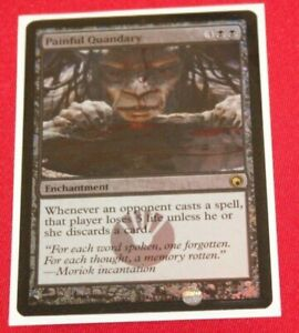 Magic The Gathering Painful Quandary Foil Scars of Mirrodin Used