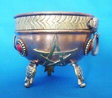 Encensoir coupelle en cuivre avec Pentagramme
