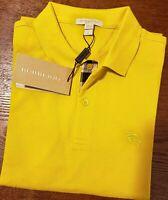 Burberry Brit men's short sleeve nova check placket polo shirt S, M, L, XL, 2XL