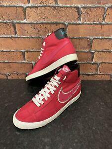 Nike Blazer High Top VNTG  trainers  Cherry/White/ Green UK 7 EUR 41 Custom Look