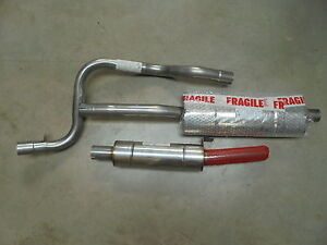 Triumph TR7 ** SPORTS EXHAUST SYSTEM STAINLESS STEEL ** NEW Large Bore