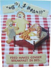 Fred & Ginger Joke BLANK card 'breakfast in bed' by Great British card company