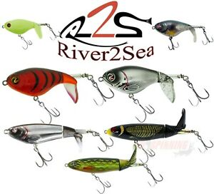 River2Sea Top Water Floating Fishing Lures ORGINAL WHOPPER PLOPPER All Sizes UL