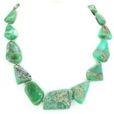 Necklace natural Chrysoprase antique gemstone 925 solid sterling silver 114 gram