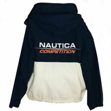 Nautica Competion Mens Sz XL Jacket Spellout Colorblock Sailing/Boating/Outdoor
