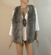 Victoria's Secret Moda International Faux Fur Vest Jacket Medium