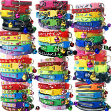 48 PCS Lot Wholesale Small Dog Collar Pet Puppy Cat Kitty Necklace Collars Bell