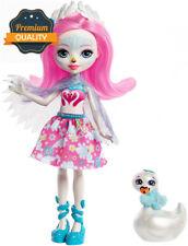 Enchantimals Saffi Swan doll e portamento Figura 6 cm da collezione Giocattolo Regalo Ideale