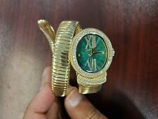 Judith Ripka Tubogas Gold-Tone Crystal Green Dial Dial Womens Watch
