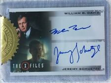 X-Files Seasons 10 & 11 William B. Davis and Jeremy Schuetze Dual Autograph