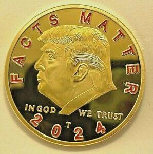 US Seller ** Qty one - 1 FACTS MATTER !! Donald Trump Golden Joe Biden Slam Coin