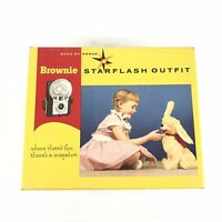 Vintage KODAK Brownie Starflash Outfit Camera In Original Box + Flashbulbs