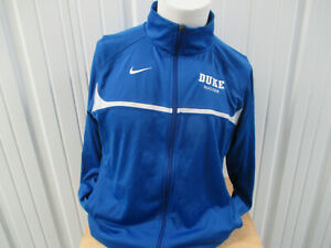 VINTAGE NIKE DUKE BLUE DEVILS SOCCER SEWN MEDIUM ZIP-UP TRACK JACKET TEAM ISSUED