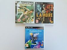 LOT 3 PS3 games~ L.A.Noire & Uncharted: Drake´s Fortune~Playstation Move Start