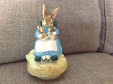 Vintage Schmid Beatrix Potter Music Box Mrs Rabbit Twins