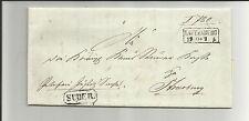 Preußen / LAUTENBURG Ra2 + Btm-Ra1 SUDER a. Brief 1861