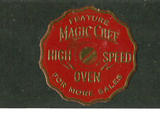Vintage Poster Stamp Label MAGIC CHEF HIGH SPEED OVEN
