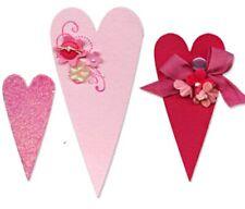 Sizzix Bigz Primitive Hearts die #656335 Retail $19.99 Cuts Fabric, Retired