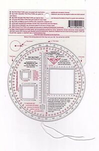 RM PRODUCTS Military Round Protractor (Red)