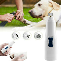 Electric Pet Dog Cat Nail Paws Trimmer Cordless Grooming Tool Grinder Clipper US