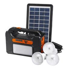 25W Solar Powered System Generator Solar Panel FM Radio bluetooth USB LED