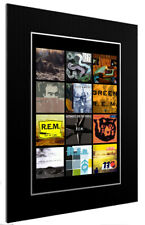 MOUNTED / FRAMED PRINT R.E.M DISCOGRAPHY 3 SIZES PRINT POSTER ARTWORK