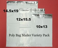 New listing 90 Poly Bag Mailer Variety Pack 3 Med to Lrg Size 2.5 Mil Quality Shipping Bags