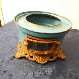 Emaille Kocher Petroleum/Lampenöl Blau Alt