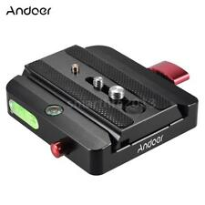 Andoer Tripod Monopod Quick Release Plate Sliding Clamp Adapter for Manfrotto