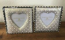 MacKenzie-Childs Fabric Sweet Heart Frame 5X5 ! Two Frames! New