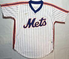New York Mets Throwback Vintage Jersey Shirt White Pinstripe Size 40 Medium