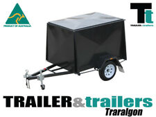8x5  ENCLOSED VAN TRAILER -6FT HIGH - NEW WHEELS & TYRES - CHECKER PLATE FLOOR