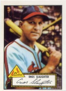 1983 Topps Reprint 52 St. Louis Cardinals Baseball Card #65 Enos Slaughter