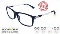 Large Strong Wayfarer Style Reading Glasses Designer Retro Mens Womens Ladies