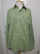 Abercrombie Fitch XL Muscle Shirt Green White Striped New