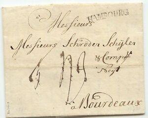 """HAMBURG """"HAMBOURG"""" gebogener schwarzer L1 (wie Feuser 1349-2 aber gebogen) 1773"""