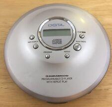 Durabrand Programmable Cd Player Portable Digital Bass Boost Silver
