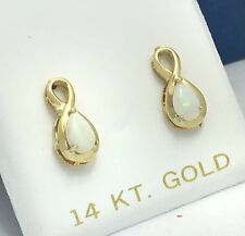 GENUINE 0.50 Carats OPALS 14k GOLD EARRINGS *Comes with FREE Appraisal*
