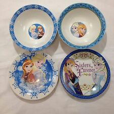Disney's Frozen Elsa And Anna Bowls And Plates