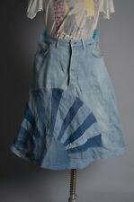Vtg 1970'S Patchwork Denim Jean A-Line Skirt 501 Red Line