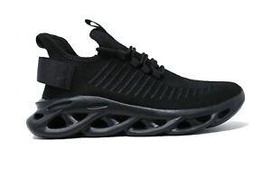 Scarpe Sneakers uomo Running Speed nero sportive traspiranti Jogging da 40 a 44