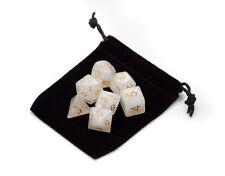 Wiz Dice 7 Die Polyhedral Set Forbidden Treasure RPG DnD Dice With Dice Bag