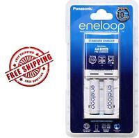 Panasonic Eneloop Standard Battery AA AAA Charger with 2 Ni-Mh rechargeable batt