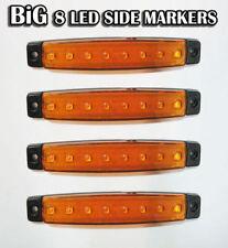 4 x 12v Arancio 8 LED Lampadina Luce posizione laterale camion telaio AUTOCARRO