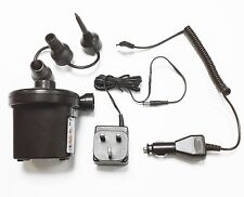 Rechargeable Electric Air Bed Mattress AirPump Pump Mains & Car 12v Plus Socket
