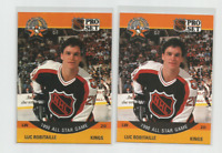 1990-91 Pro Set Error Variation Luc Robitaille Hockey Card #341 Reversed Back +